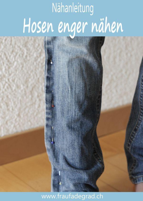 Photo of Gekaufte Hosen näher nähen, hier eine Nähanleitung.