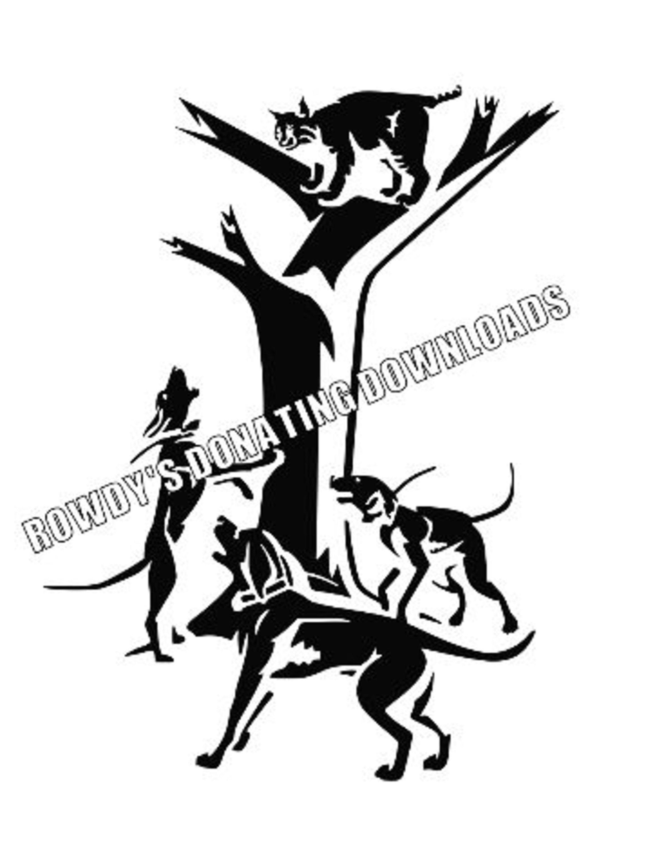 Raccoon Hunting Svg Coonhound Svg Dog Svg Beagle Svg