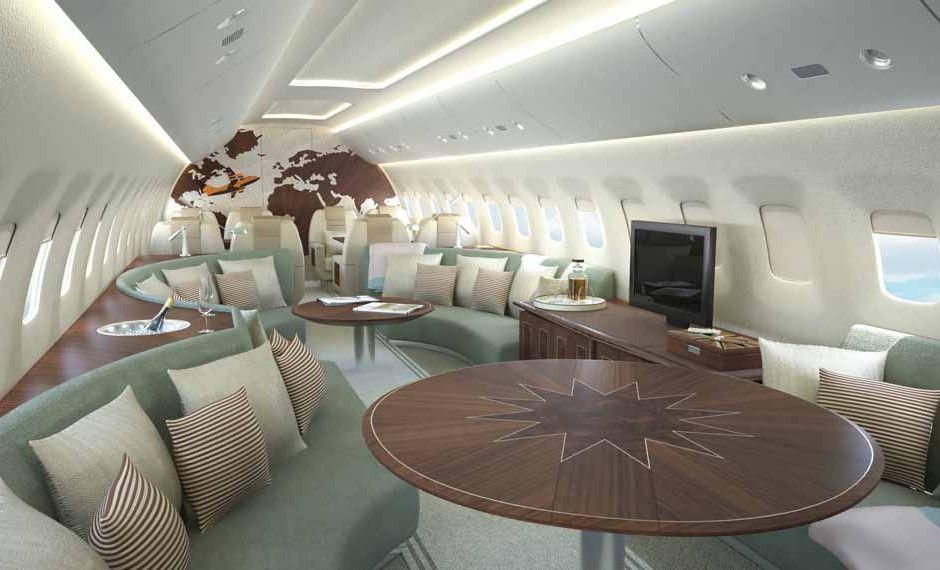 Avro Business Jet Linley Interior Design Private Jet Interior Contemporary Cabin Interior