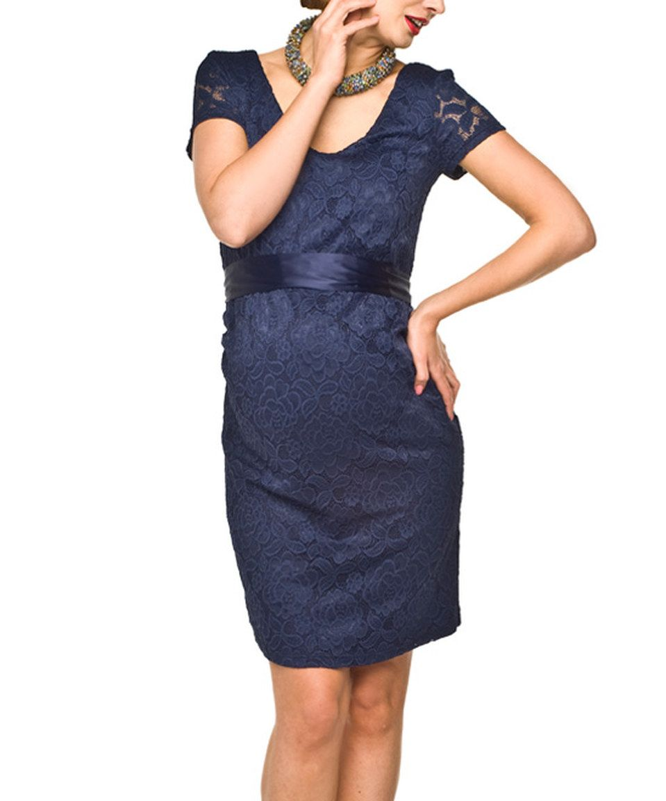 Look what i found on zulily torelle dark blue lace maternity torelle dark blue lace maternity dress by torelle ombrellifo Choice Image