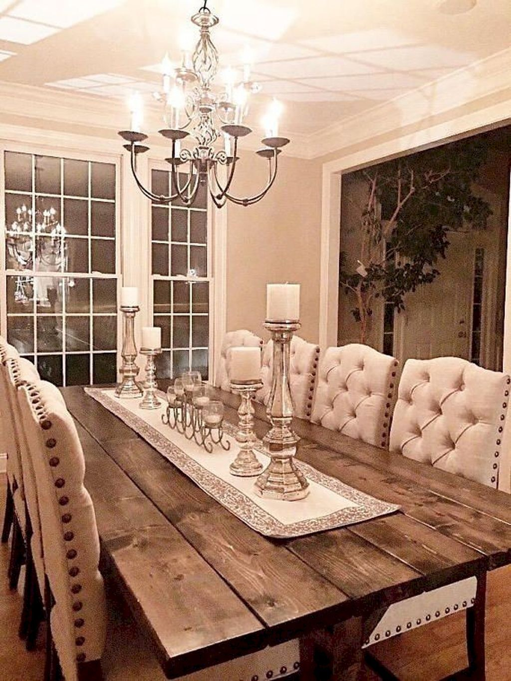 Rustic Dining Table Centerpiece