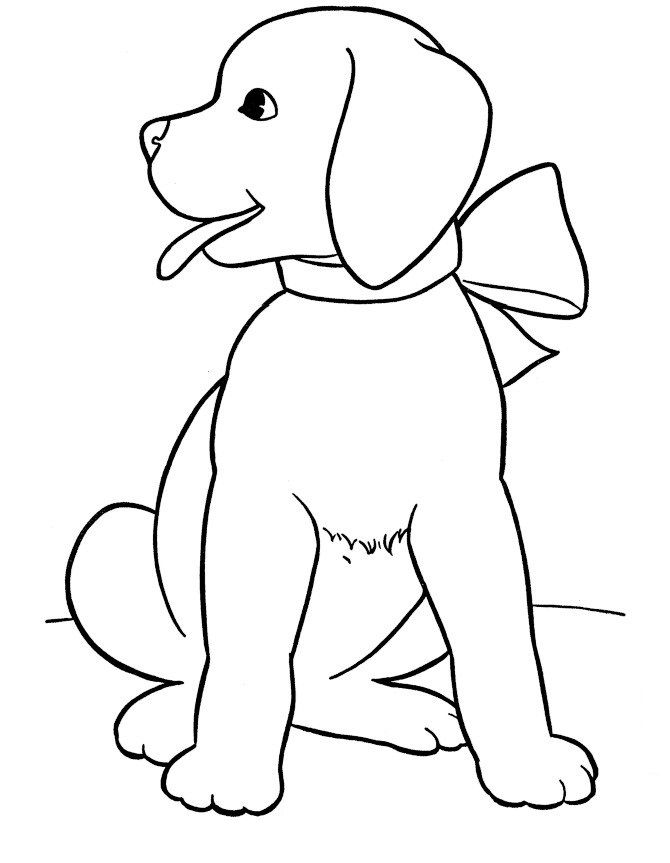 Free Printable Dog Coloring Pages For Kids | černobílé obrázky ...