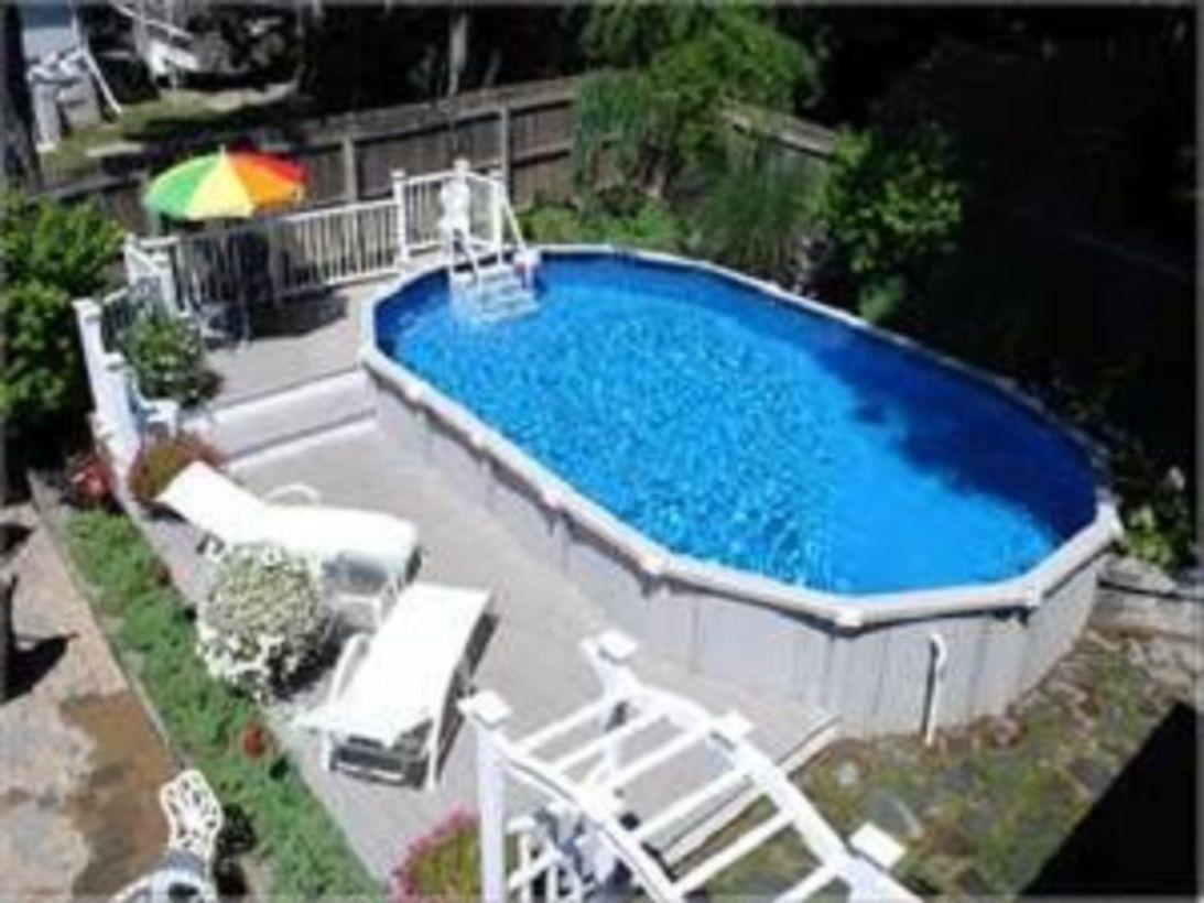 60 Cool Oval Pool Design Ideas Backyard Pool Landscaping