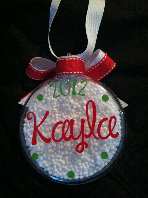 Personalized Christmas Ornament by CuteandJazzyDesigns on Etsy