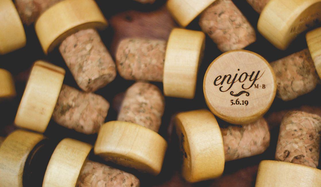 Enjoy personalized wine cork wine cork wedding favors