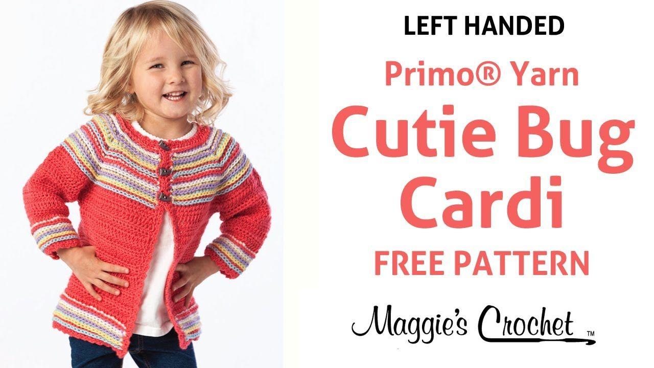 Cutie Bug Child\'s Cardigan Sweater Free Crochet Pattern - Left ...