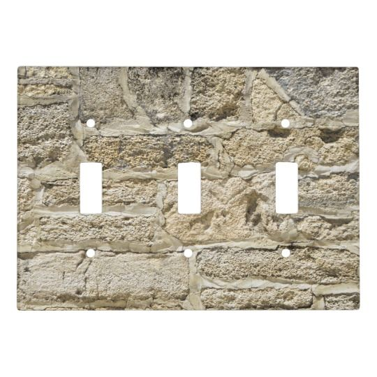 Old Stone Wall Background Light Switch Cover Zazzle Com Stone Wall Wall Background Light Switch Covers