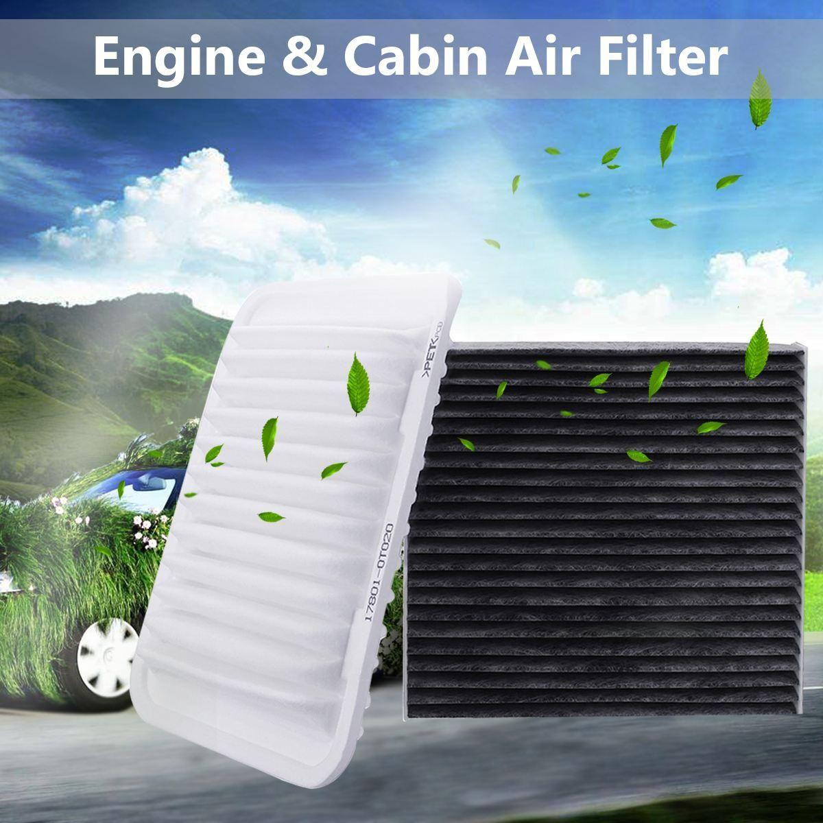 Filtro de aire de motor 2 piezas y filtro de aire de