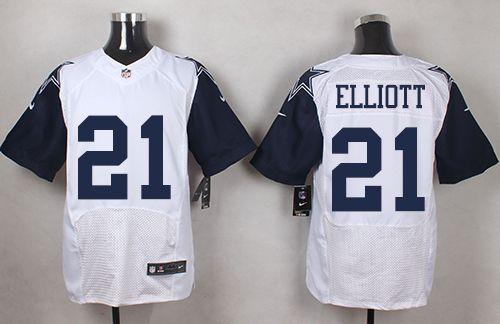 8e01bfbbd ... NikeCowboys 21 Ezekiel Elliott White Mens Stitched NFL Elite Rush Jersey  ... Womens Dallas Cowboys ...
