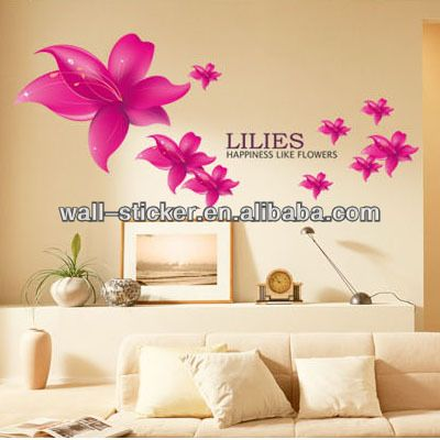 New Design Removable Easy Peel Off Flower Wall Stickers 1 Safe