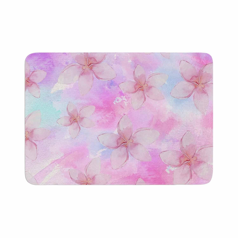 Sylvia Cook Pastel Plumerias Pink Purple Digital Memory Foam