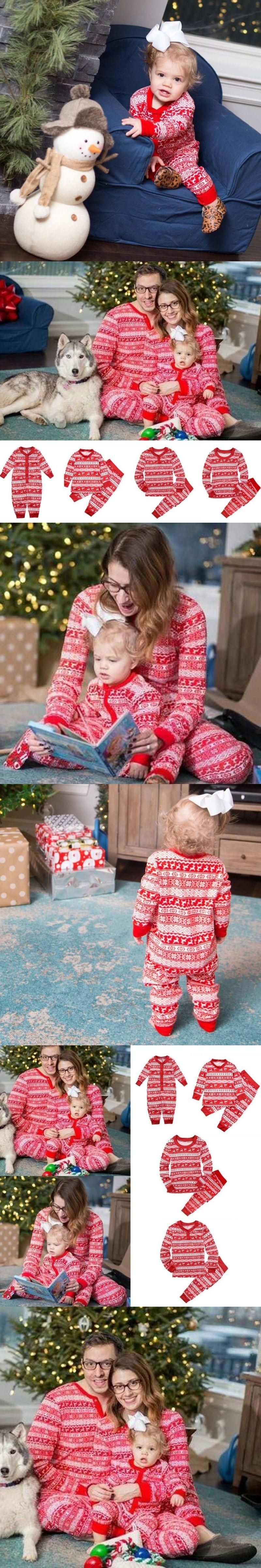 Family Christmas Pajama Family Matching Clothes Xmas Matching Mother  Daughter Fashion Father Son Mon New Year 60860b56e