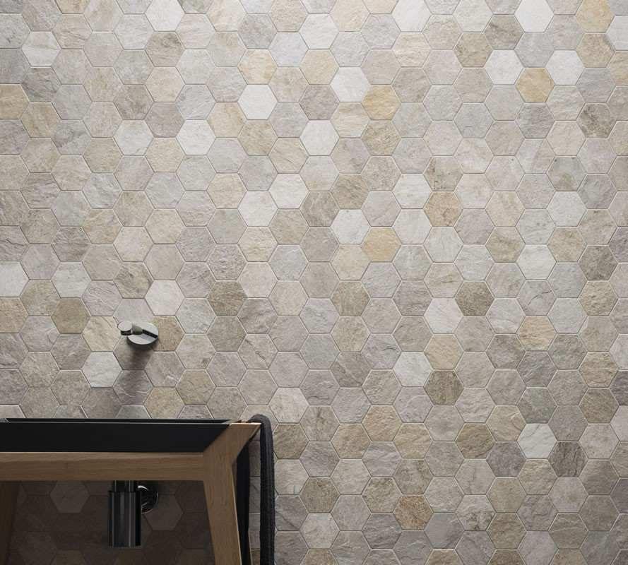 Kronos #Rocks Exa Silver White 30x30 cm 7455 #Feinsteinzeug - küche fliesen boden