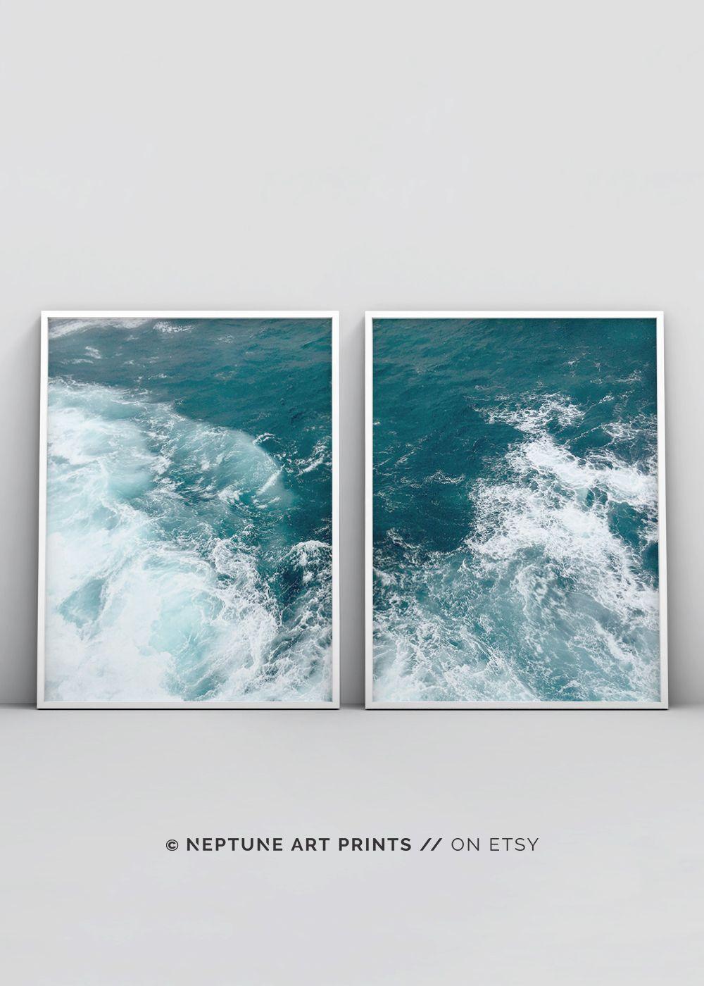 Photo of Coastal Wall Art, Coastal Decor, Vaskerom Decor, Digital nedlasting, Utskriftsvennlig plakat, Beach Decor, Ocean Print, Nautical Wall Art, Modern
