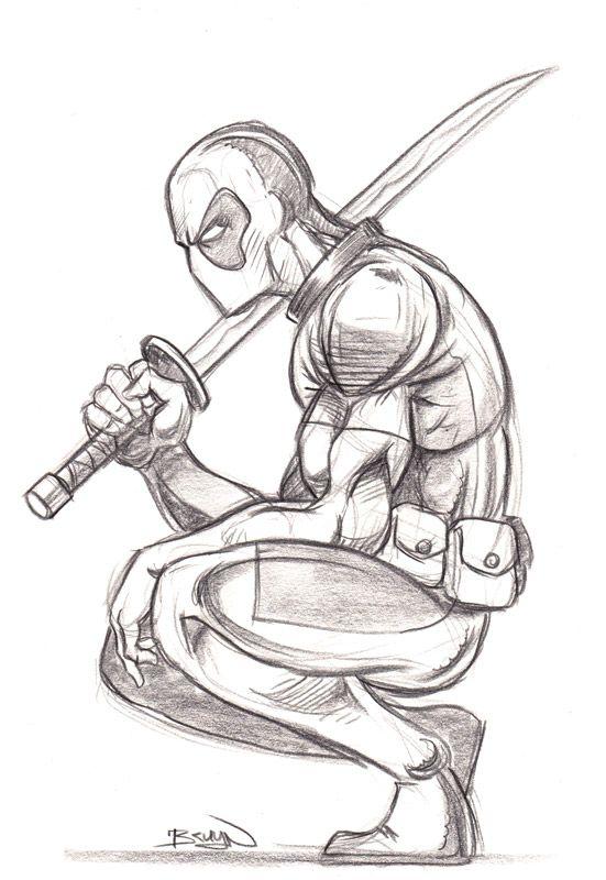 Bruyn_Deadpool_01.jpg (551×800) Deadpool drawing
