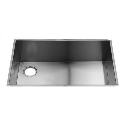 Offset drain in this large single bowl Julien sink | Dream ...