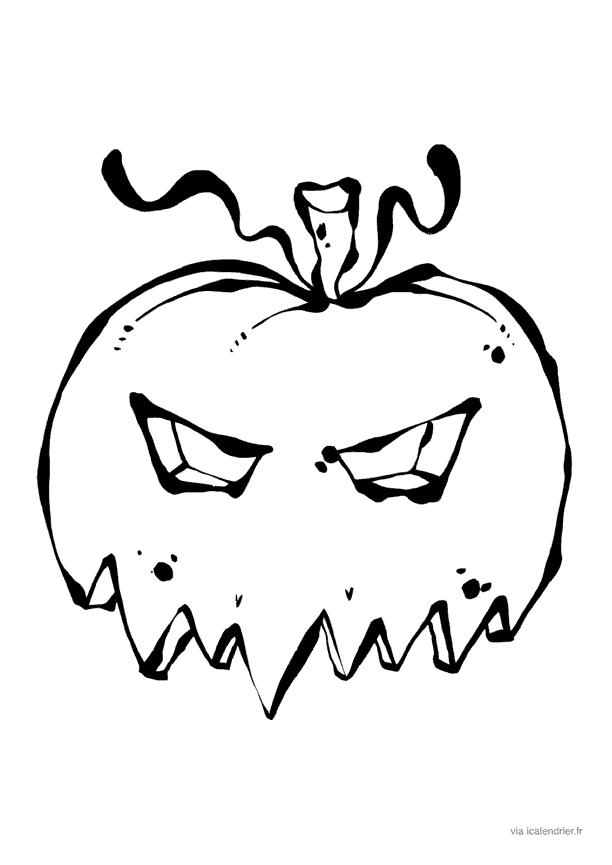 Masque de citrouille qui fait peur halloween - Masque qui fait peur a imprimer ...