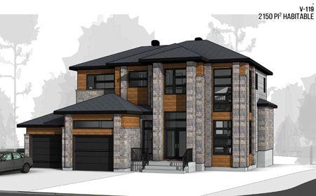 Plan croquis d\u0027architecture maison neuve - cottage contemporain avec