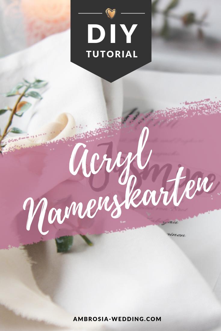 DIY Tischkarten Hochzeit aus Acryl | Diy tischkarten