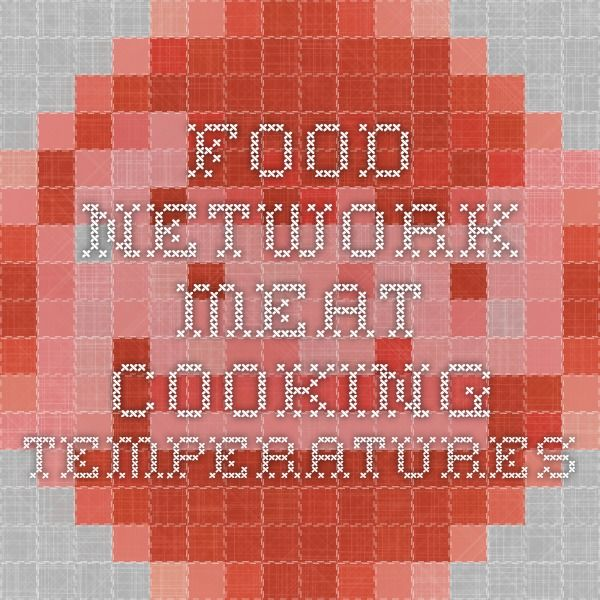 Food Network Meat Cooking Temperatures