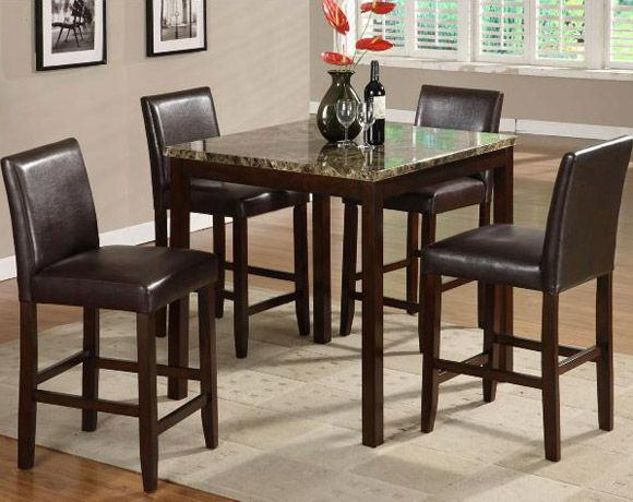 Anise 5 Piece Counter Height Dining Set American Freight Counter Height Dining Sets Home Kitchens Dinette Sets