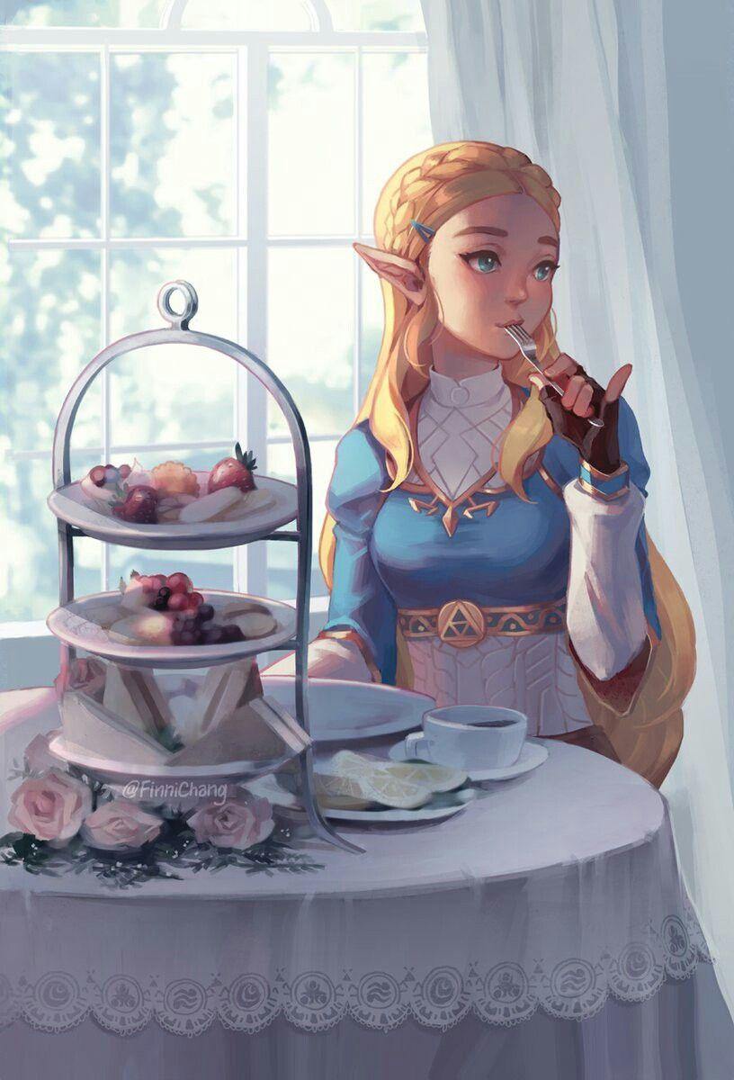 Royal Tea Time Princesse Zelda Coloriage Zelda Breath Of The Wild
