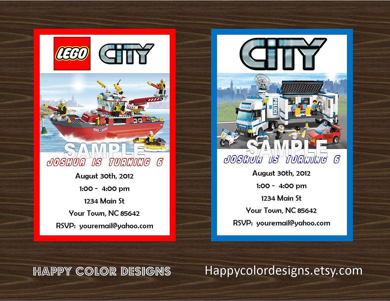 Lego City Invitation Buxton S Lego Firefighter Party