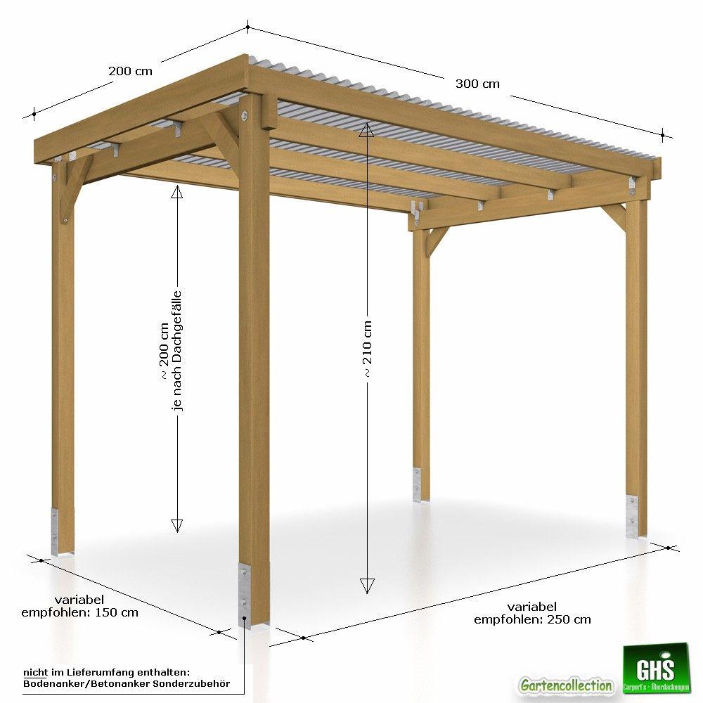 Ghs Unterstand 3x2 Details Und Abmessungen Pavillon Selber Bauen Garten Unterstand Holz Pavillon