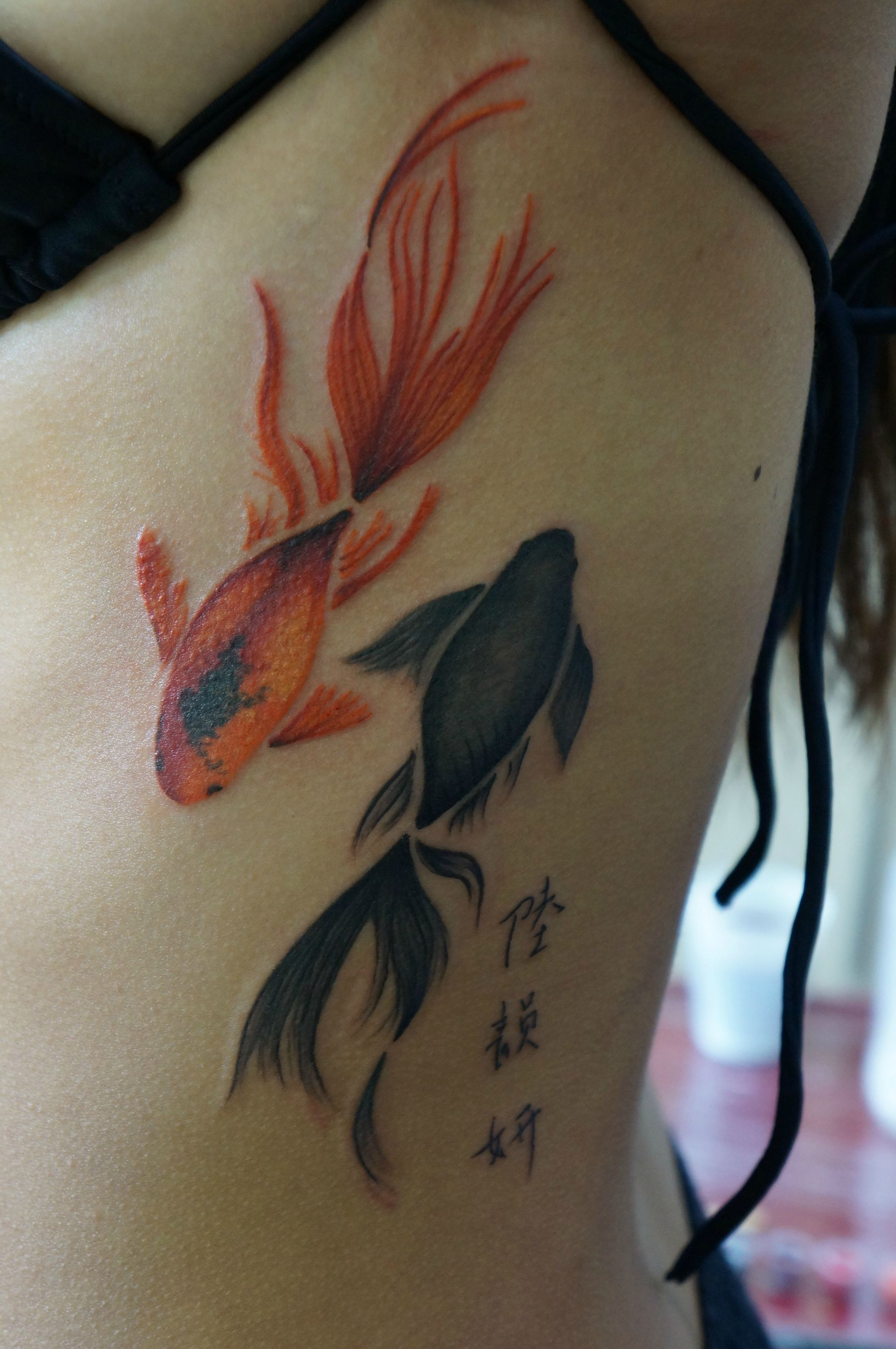 Watercolour Fish Tattoo By Marie Melou At Otautahi Tattoo Auckland Watercolor Fish Tattoo Goldfish Tattoo Tattoos