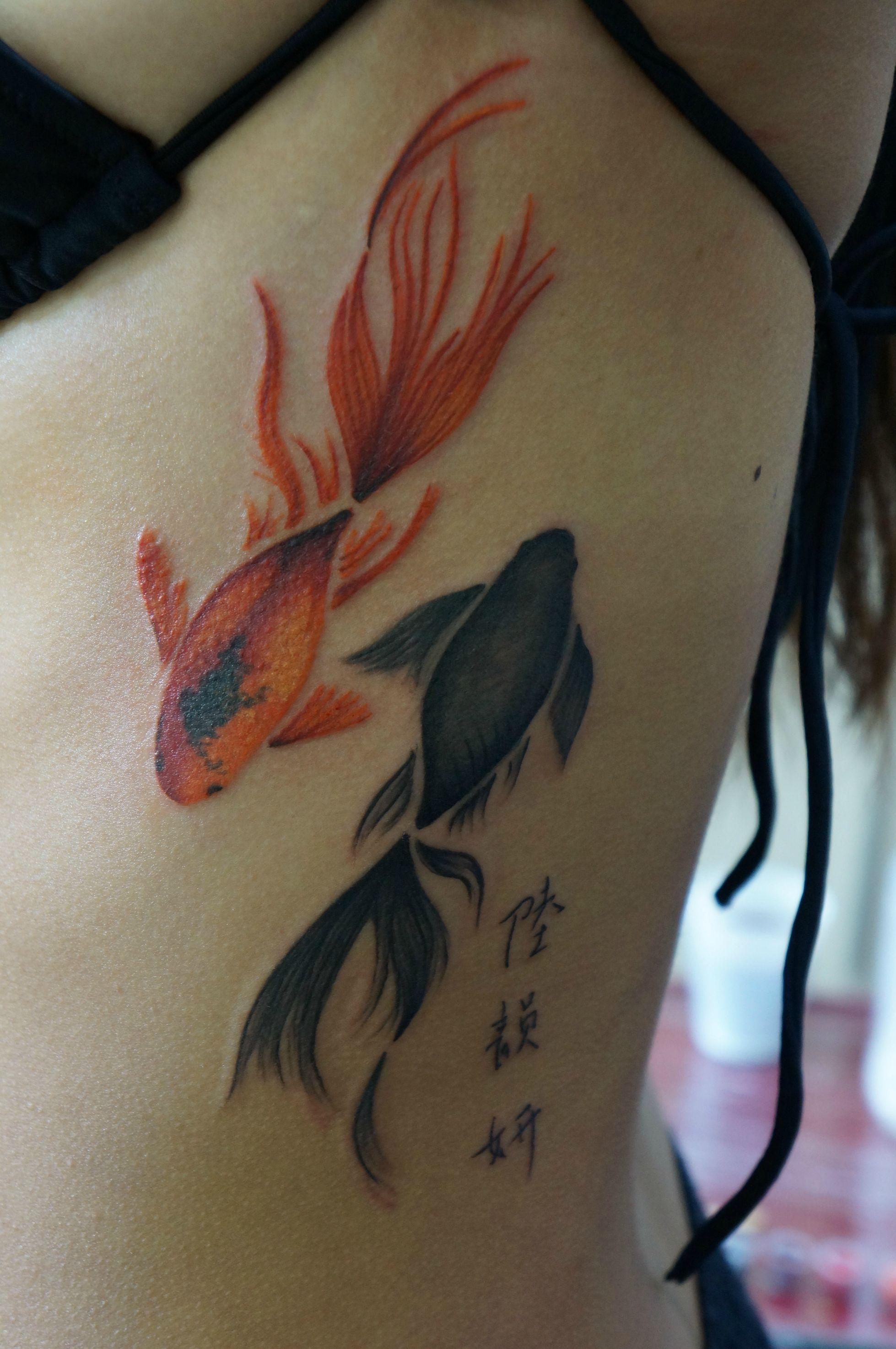 Watercolour Fish Tattoo By Marie Melou At Otautahi Tattoo
