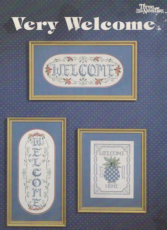 Very Welcome Pineapple Sampler, Three Needles Cross Stitch Pattern Booklet OOP