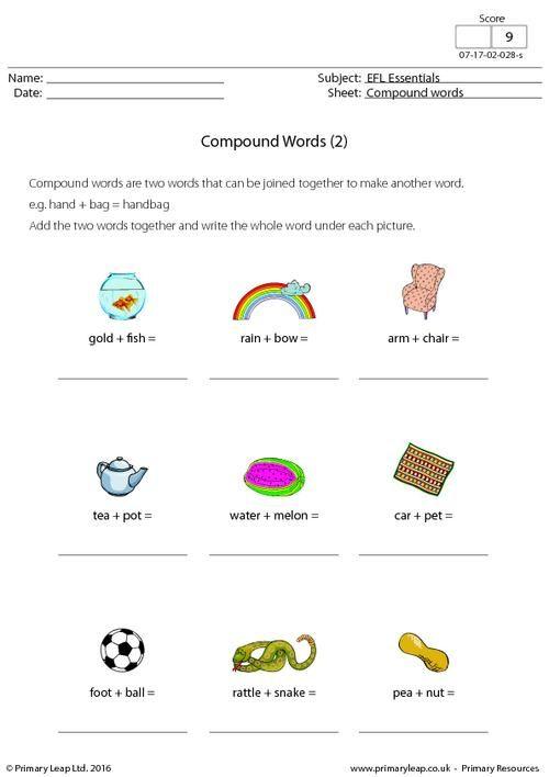 Primaryleap efl compound words 2 worksheet eflesl primaryleap efl compound words 2 worksheet ibookread ePUb
