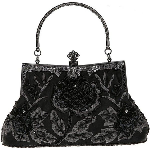 Belsen Women's Vintage Beaded Sequin Evening Handbags (€27) ❤ liked on Polyvore featuring bags, handbags, vintage hand bags, evening bags, vintage evening bags, vintage handbags and vintage evening handbags