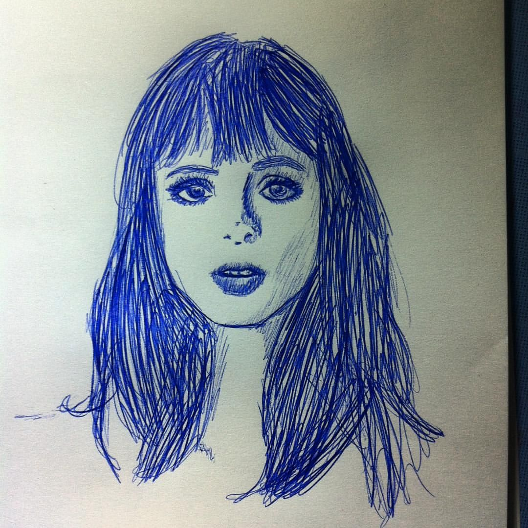 #KrystenRitter #JessicaJones #portrait #ink #bic #pendrawing #draw #drawing #marvel #marvelcomics #actress #actressportrait #Krysten #Ritter #Jessica #Jones #pen