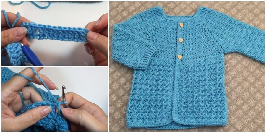 In today's tutorial I will show you how to crochet this easy crystal Waves crochet sweater cardigan for girl's from 6-12 years. Thank you for watching and I hope you enjoy this crochet baby jacket sweater tutorial. Enjoy !