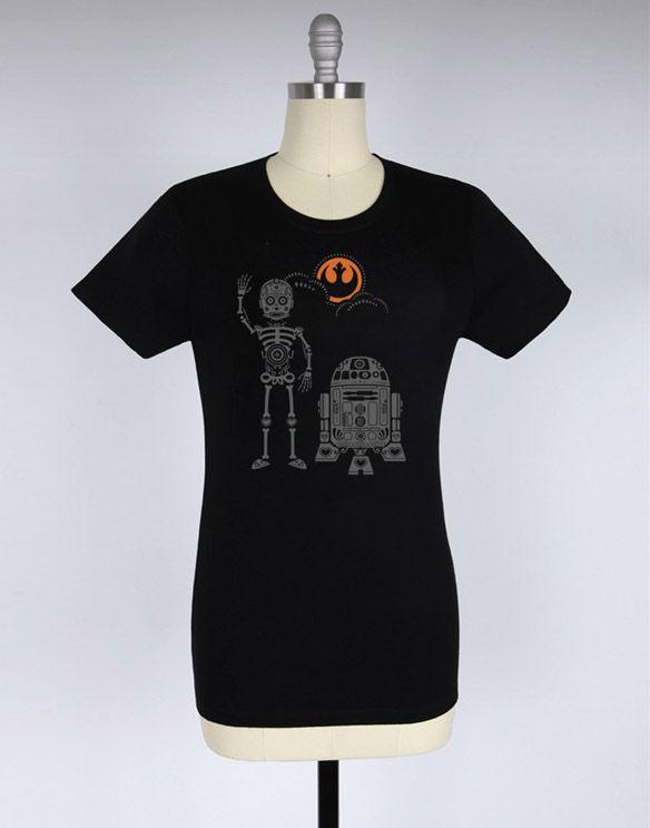 Star Wars Skeledroids Halloween T-Shirt Pinterest Star and Black - halloween t shirt ideas