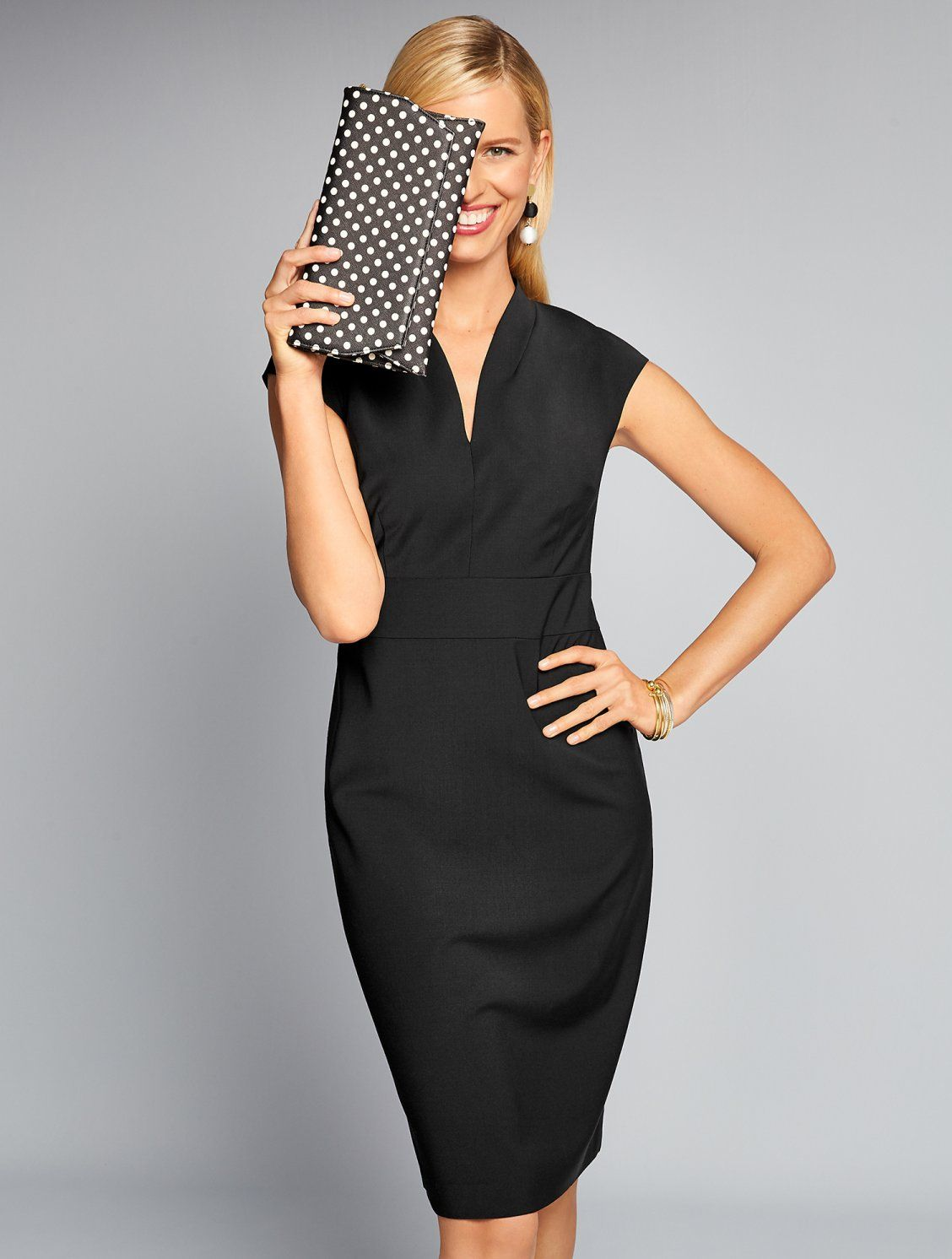 This Gorgeous Sheath Dress From Our Lovely Seasonless Wool Collection Has A Flattering Cinched Waist And Princess Seams F Dresses Talbots Outfits Sheath Dress [ 1492 x 1128 Pixel ]