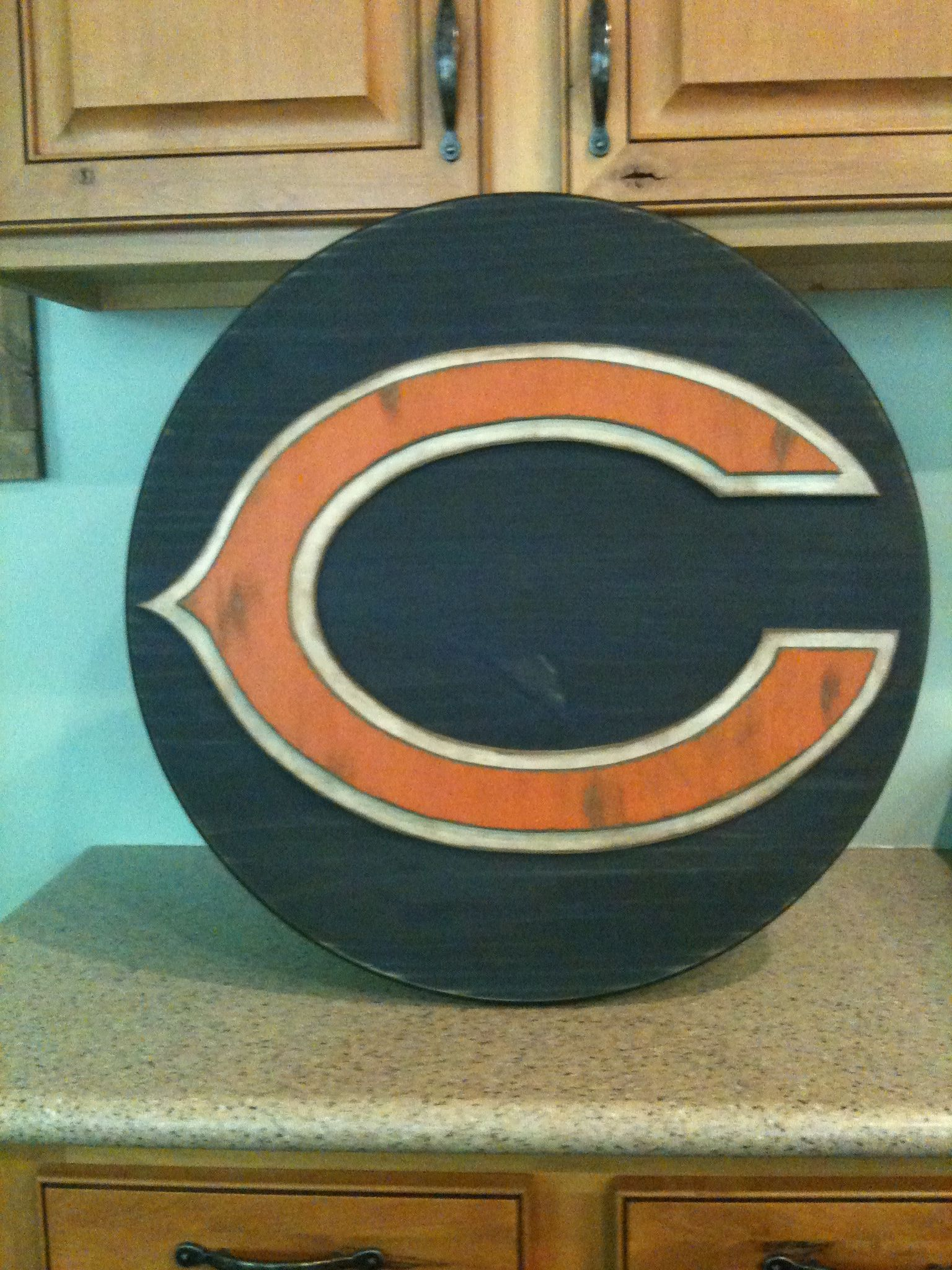Hand jigged 3 dimensional wood sports sign chicago bears wall hand jigged 3 dimensional wood sports sign chicago bears wall decor amipublicfo Choice Image