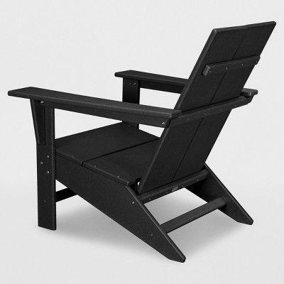 Moore Polywood Adirondack Chair Black Project 62 Polywood