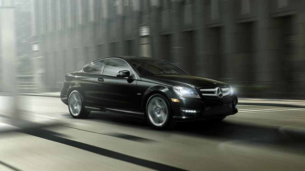 c250 coupe in black with 18 inch amg wheels the 2012