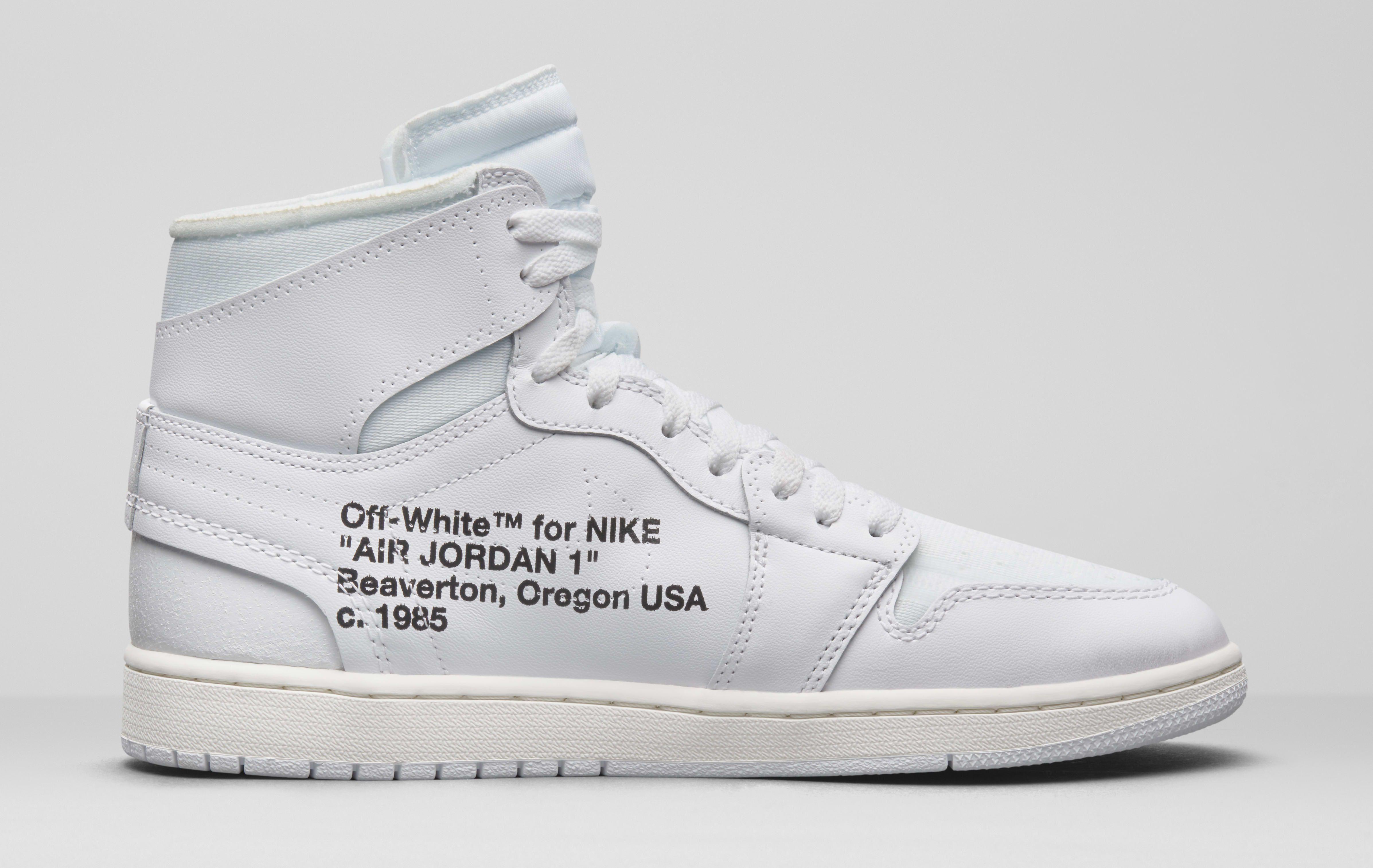 2812ab9e9d582 Air Jordan 1 x Off-White AQ0818-100 (Medial) | sneaker in 2019 ...