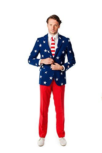 8d7d5b2608a OppoSuits Men s Stars and Stripes Party Costume Suit