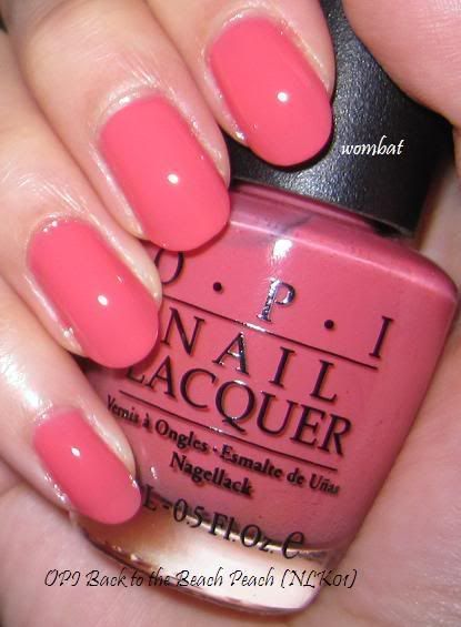 Opi Back To The Beach Peach Nail Lacquer Nl K01 Swatch Notd