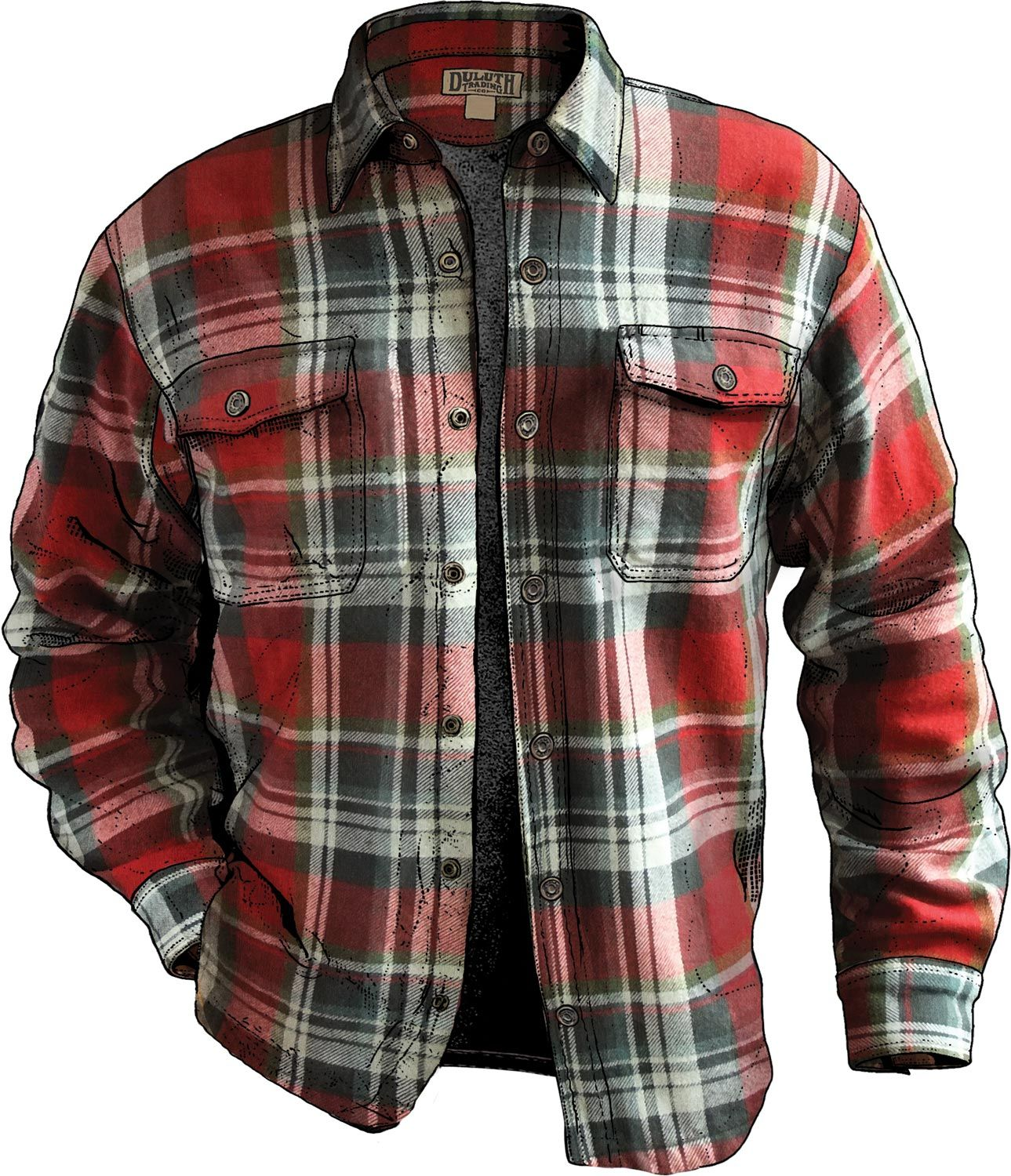 Mens Flapjack Flannel Shirt Jac In 2018 Things I Would Like Tendencies Kemeja Flanel Square Star Brown L Fleece Lined Is Built For Real Work A Thick Warm Jacket Thats Easy To Throw Off When The Action Heats Up Duluth Trading Exclusive