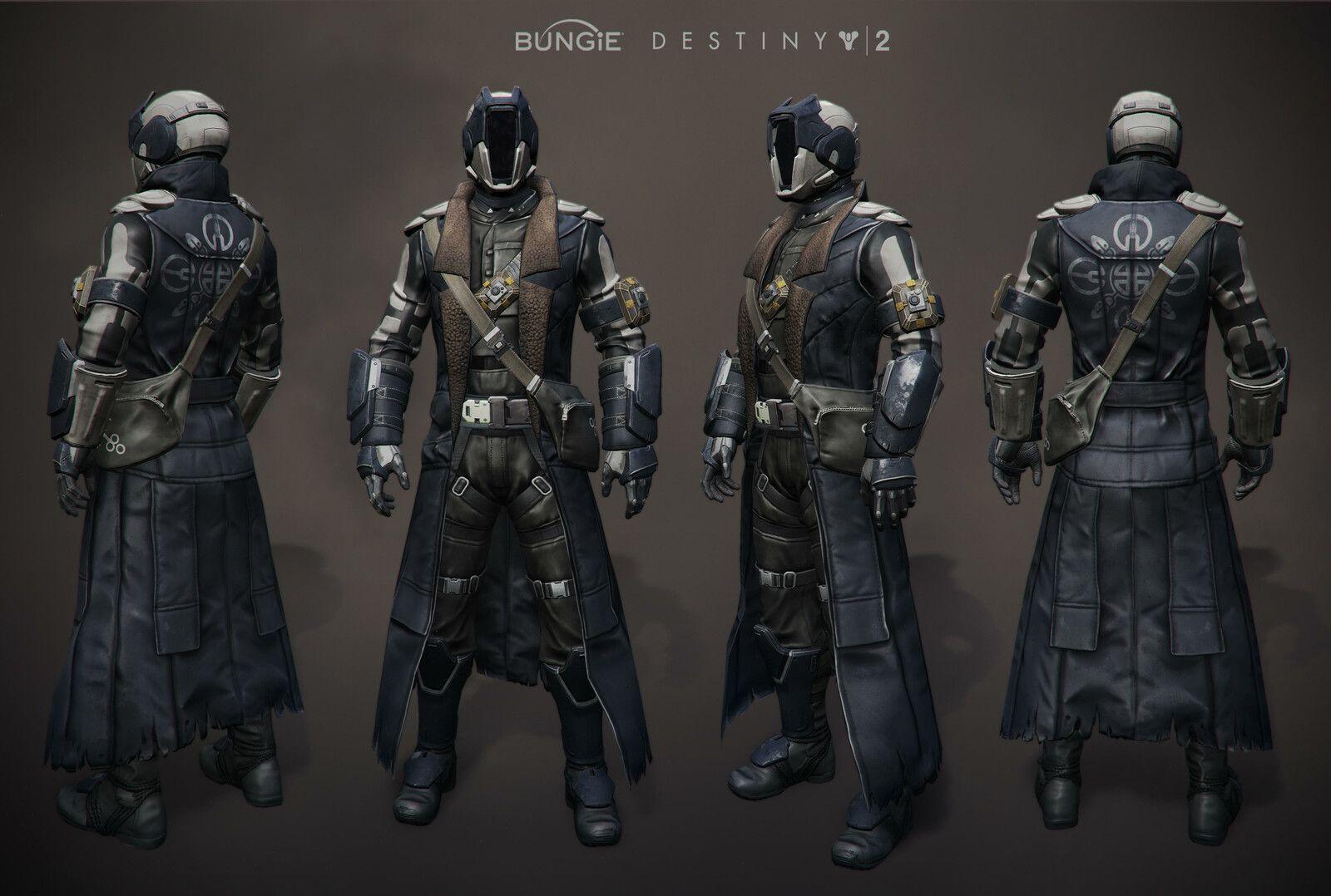 Duster of the Cormorant Warlock armor set, Rosa Lee on