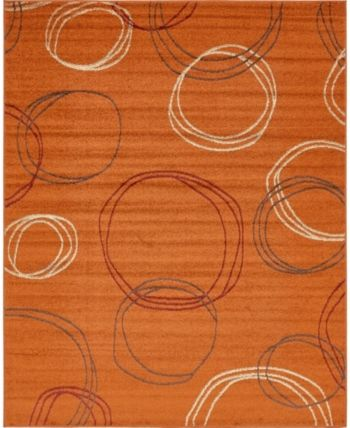 Bridgeport Home Jasia Jas05 Terracotta 8' x 10' Area Rug - Terracotta