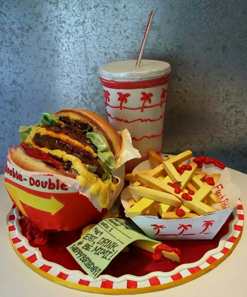 Fast Food Birthday Cakes