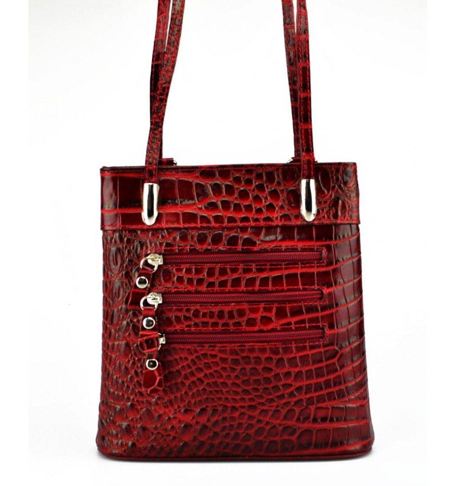 0faab711145 Rigtig fed rygsæk i skind med flot mønster   Skindtasker Damer ...