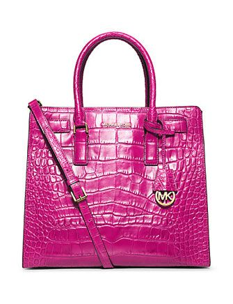 ccf613c3ab68 MICHAEL MICHAEL KORS Dillon Large Crocodile Pattern Embossed Leather Tote  Bag