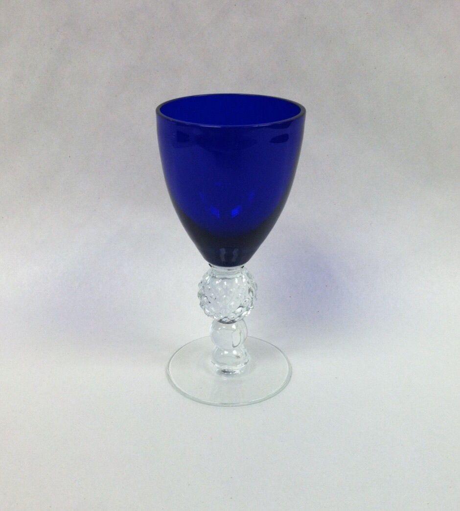 3 oz Golf Ball Wine Glass By Morgantown In Cobalt/Ritz Blue